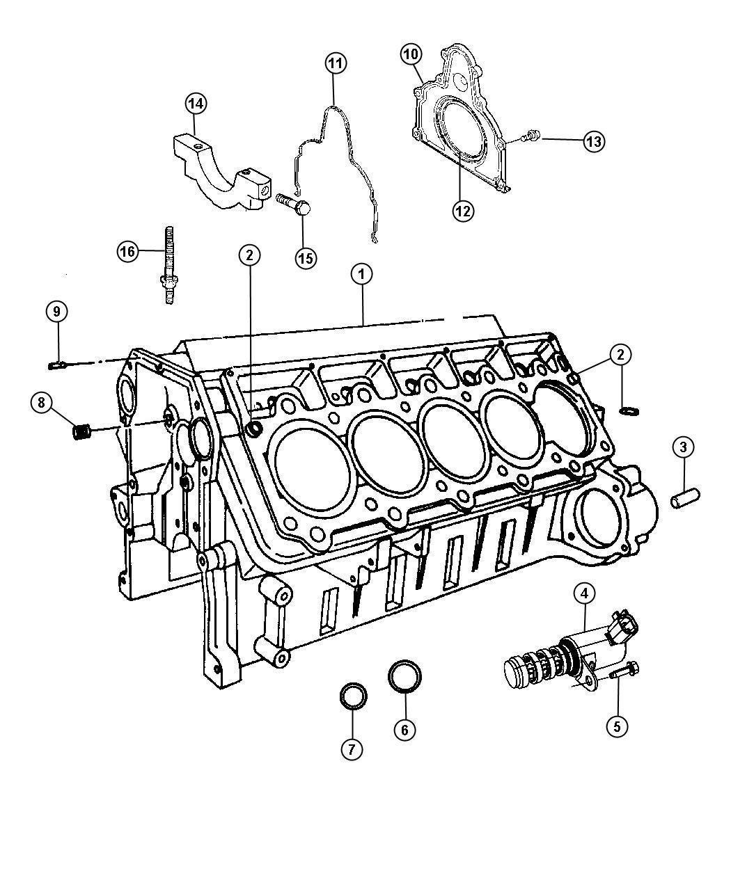 Dodge Viper Engine Short Block Cylinder Sfi Mopar