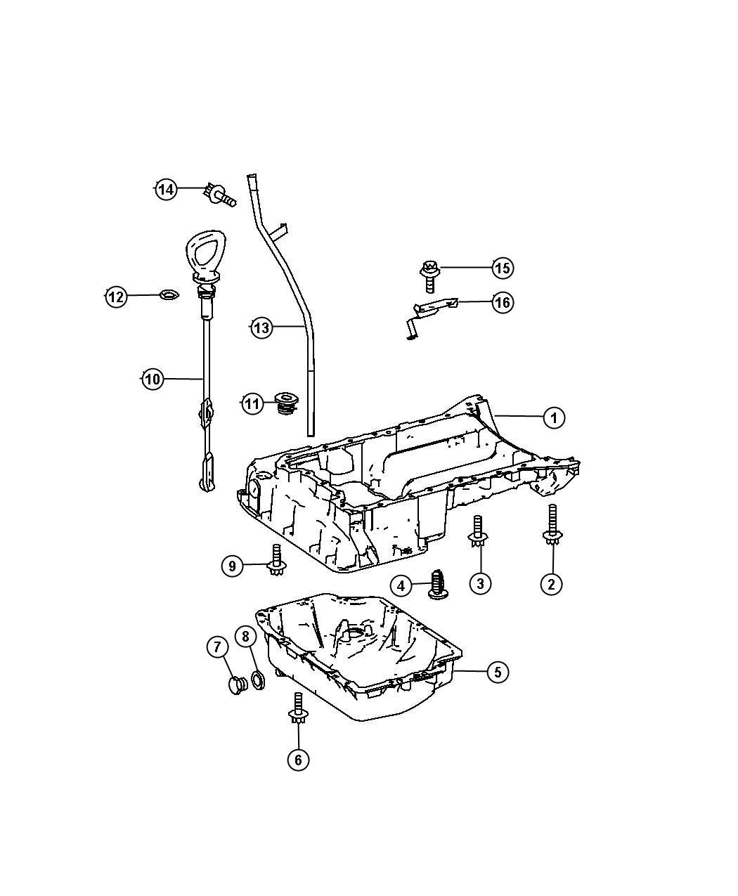 2008 Dodge Sprinter 2500 Indicator. Engine oil level. Pan