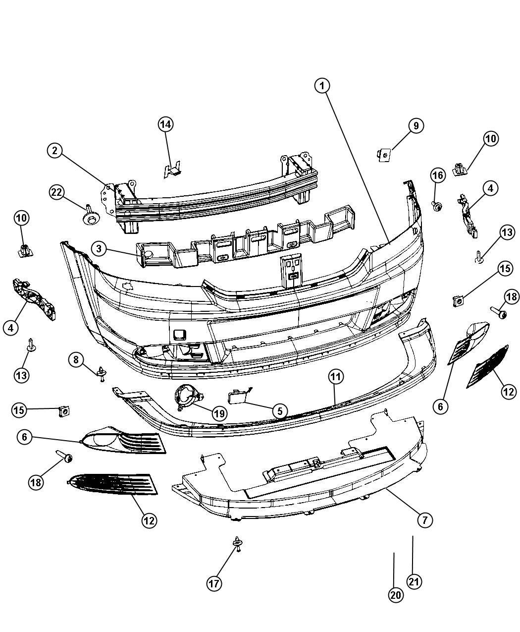 Dodge Journey Plug. Fog lamp hole. Left. Body, fascias