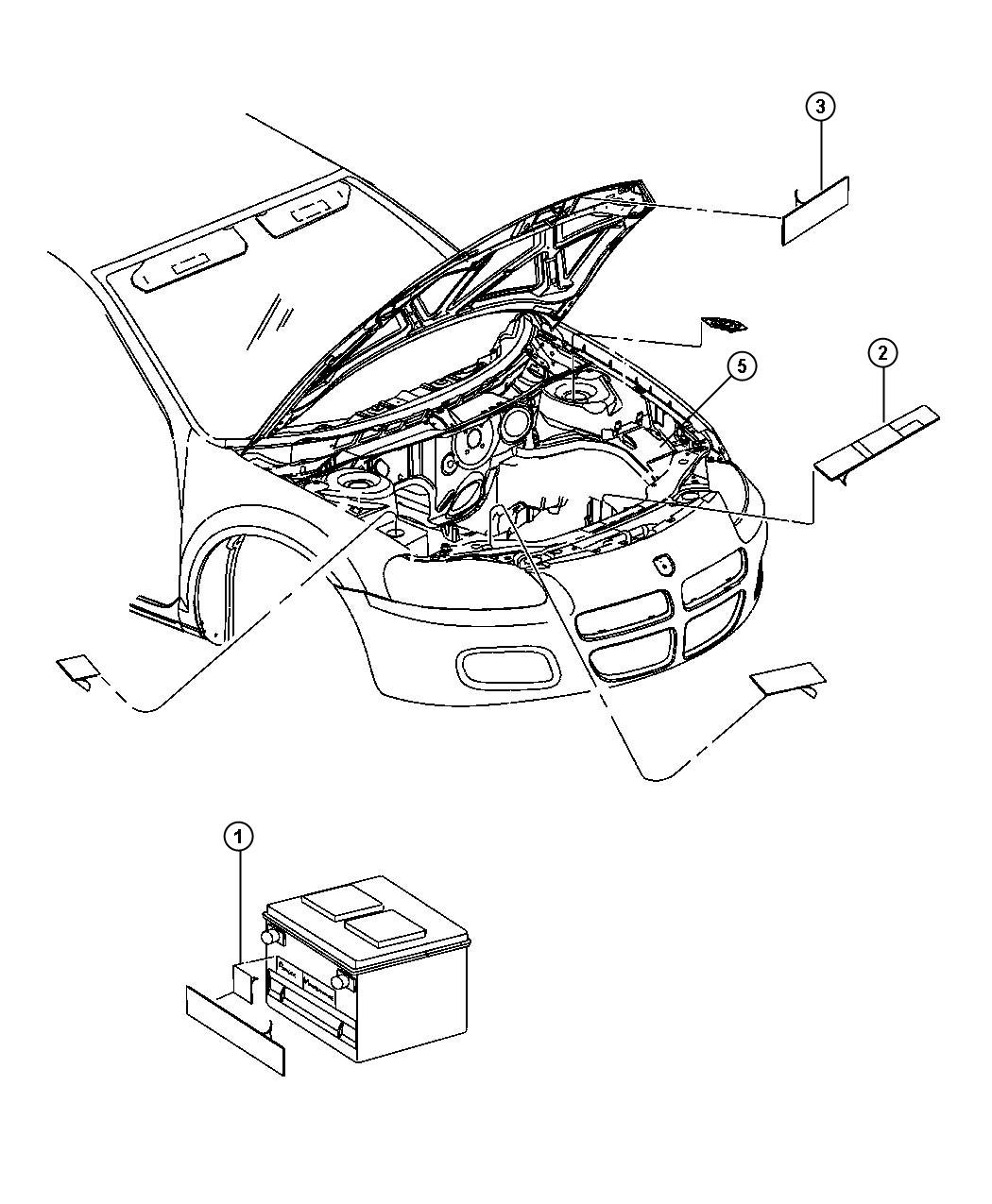 Dodge Journey Label Air Conditioning System Right