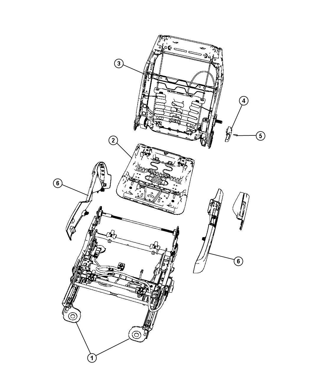 Dodge Avenger Shield. Seat cushion. [db]. Trim: [leather