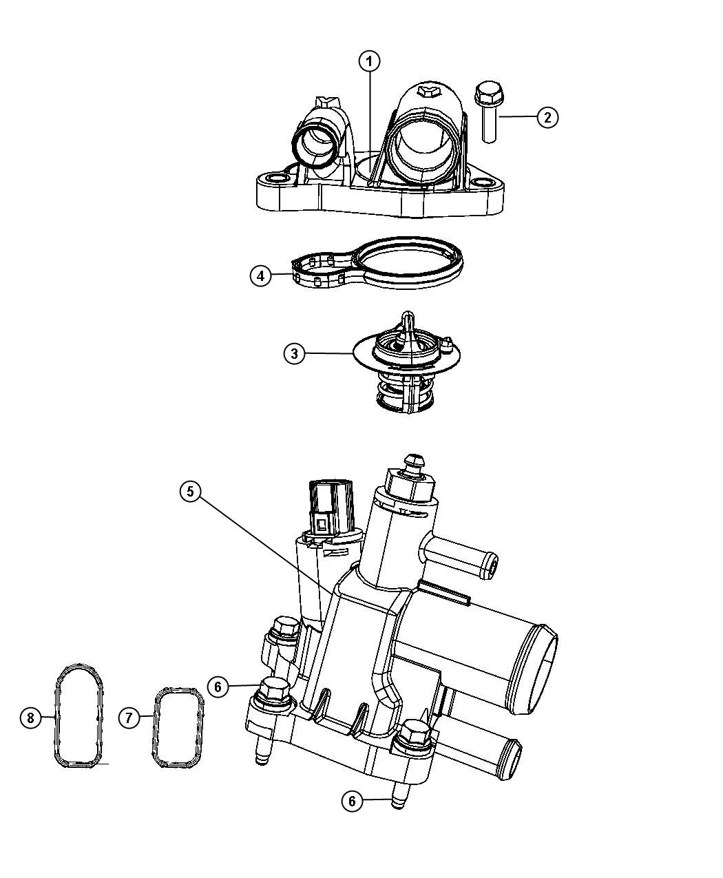 Chrysler Sebring Housing Water Outlet Related