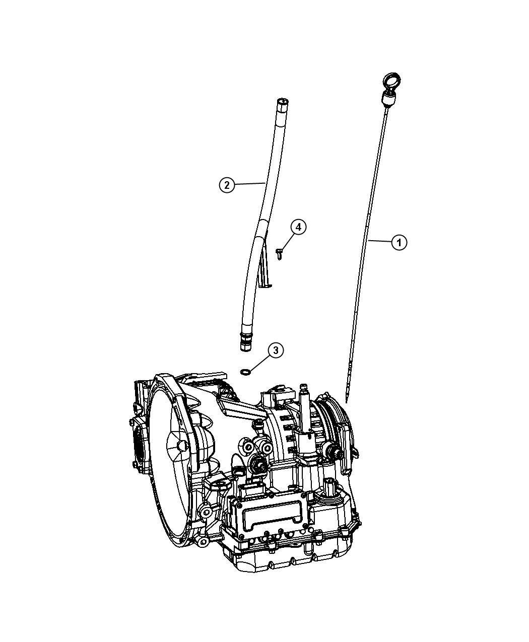 2009 Dodge Journey Indicator. Transmission fluid level