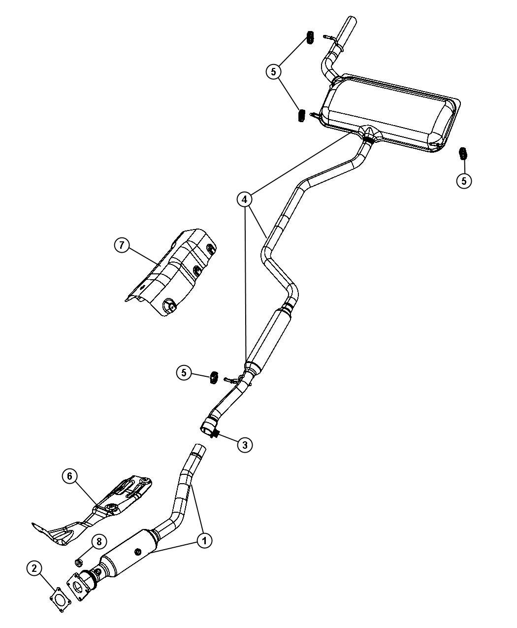 Dodge Journey Shield Floor Pan Exhaust System Front
