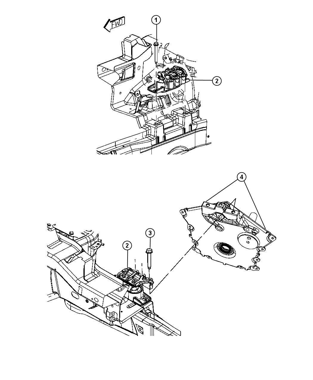 Dodge Journey Isolator Right Side Engine