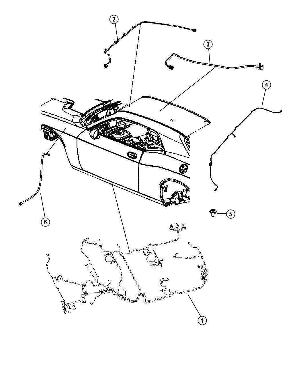 2011 Dodge Challenger Wiring. Sunroof. [gwa]. Trim: (*o0