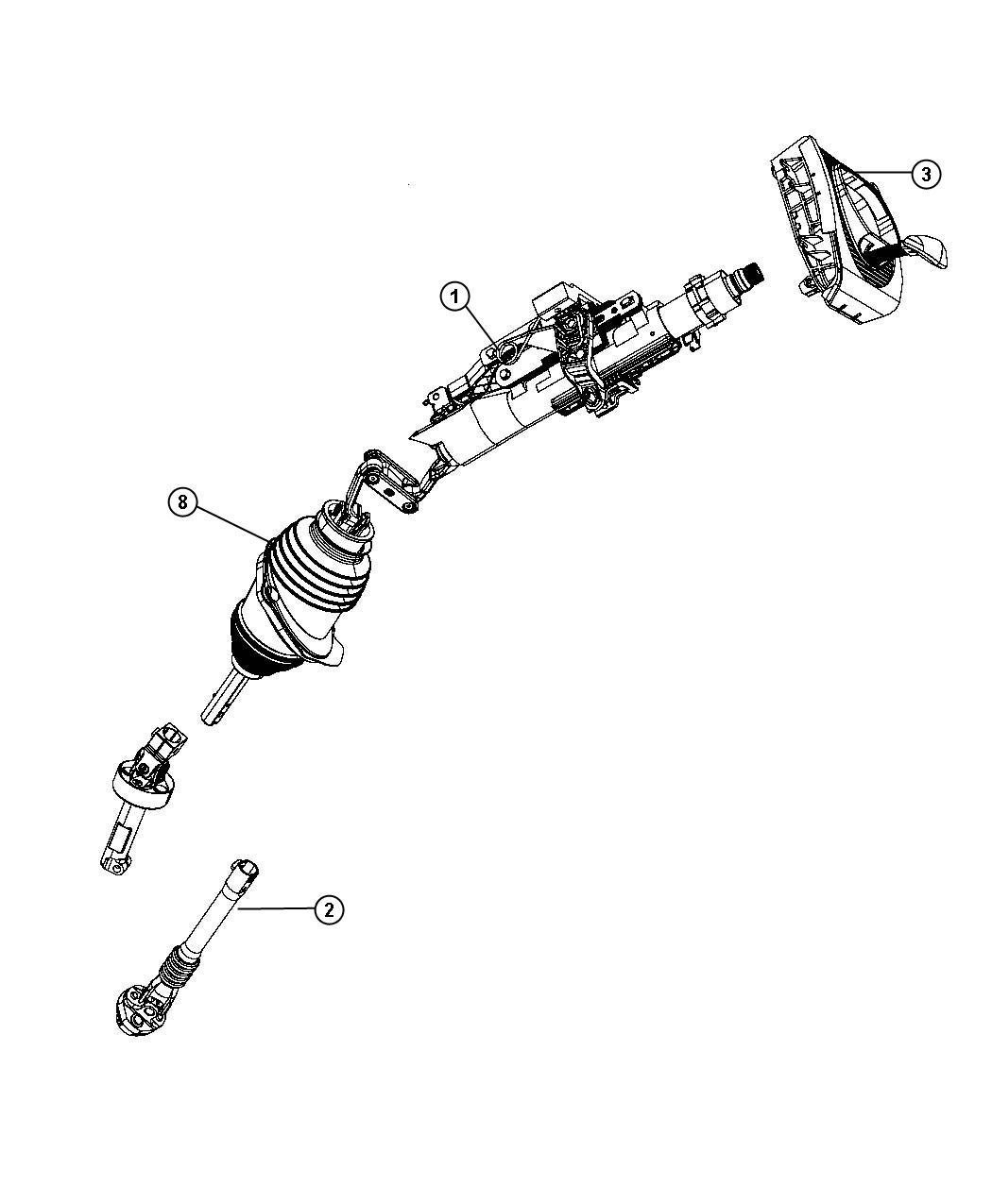 Dodge Challenger Column. Steering. Telescope, tilt