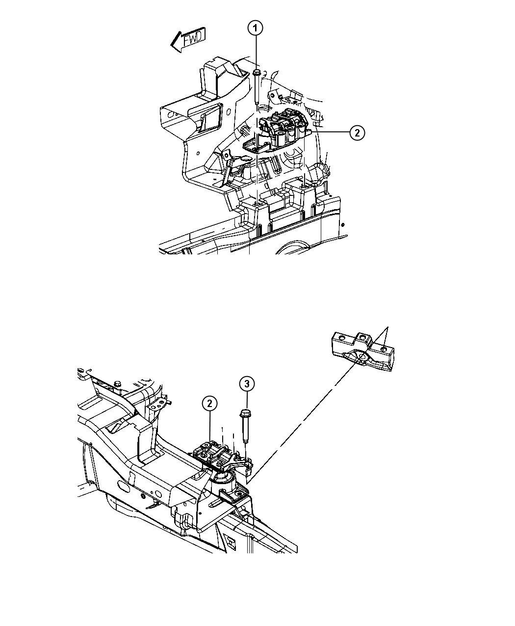 Chrysler Sebring Isolator. Right side. Engine, egf