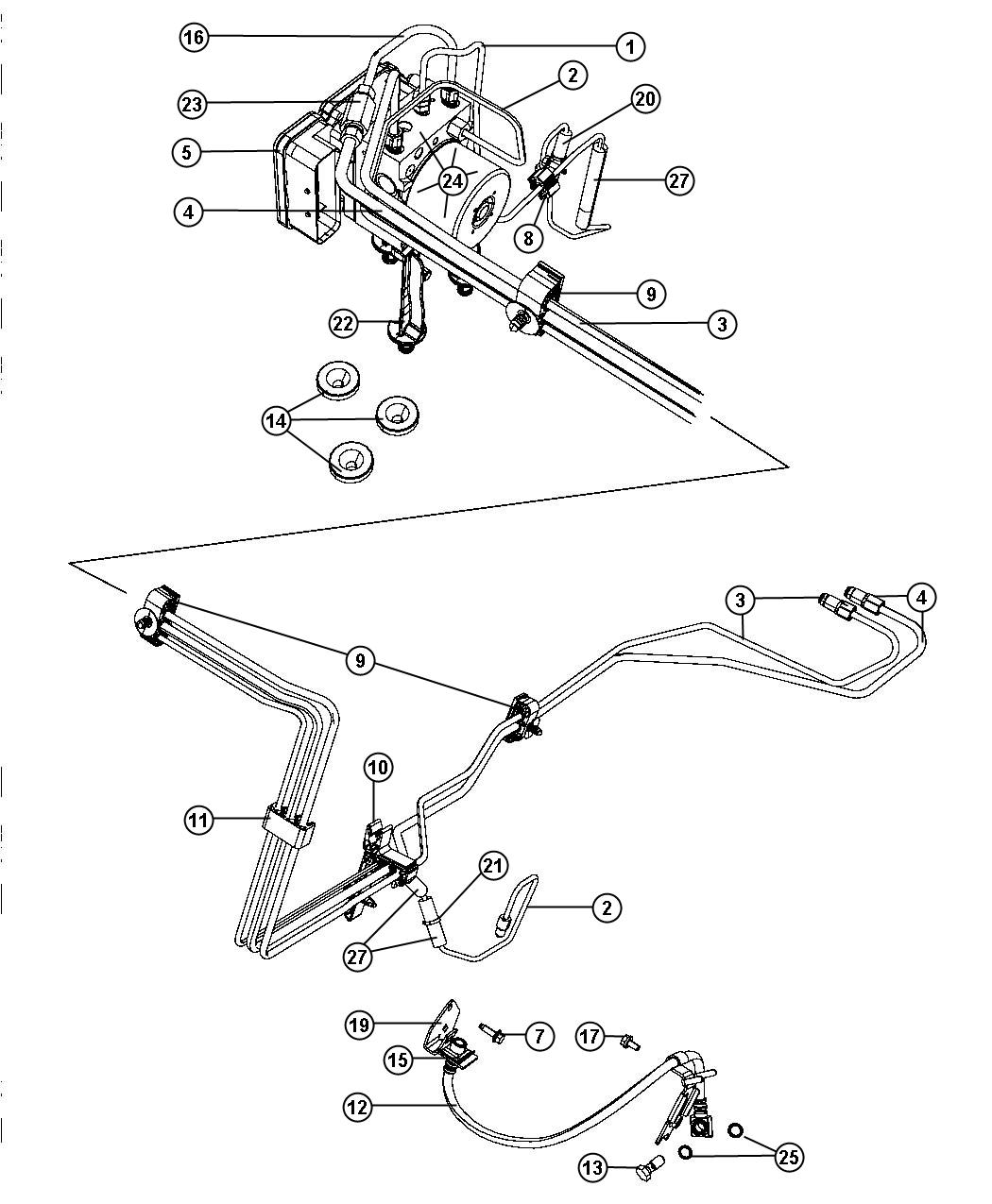 Dodge Charger Tube Brake Br4 Br4 Xzz Brd Br3 Disc Wheel Lock