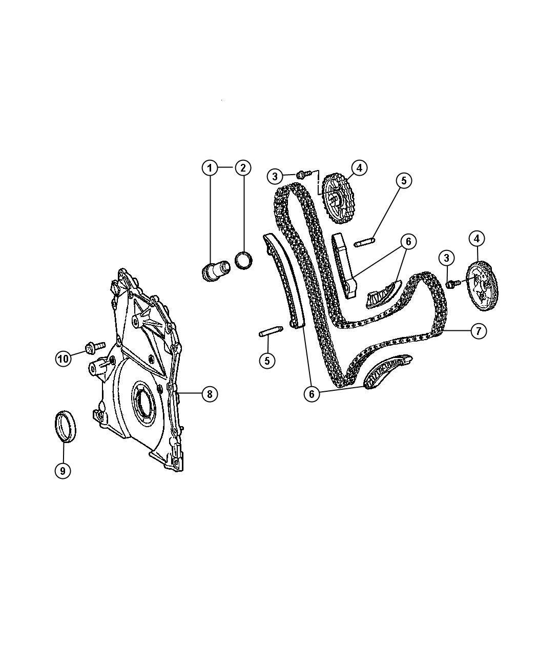 2008 Jeep Grand Cherokee Chain. Timing. Diesel, engine