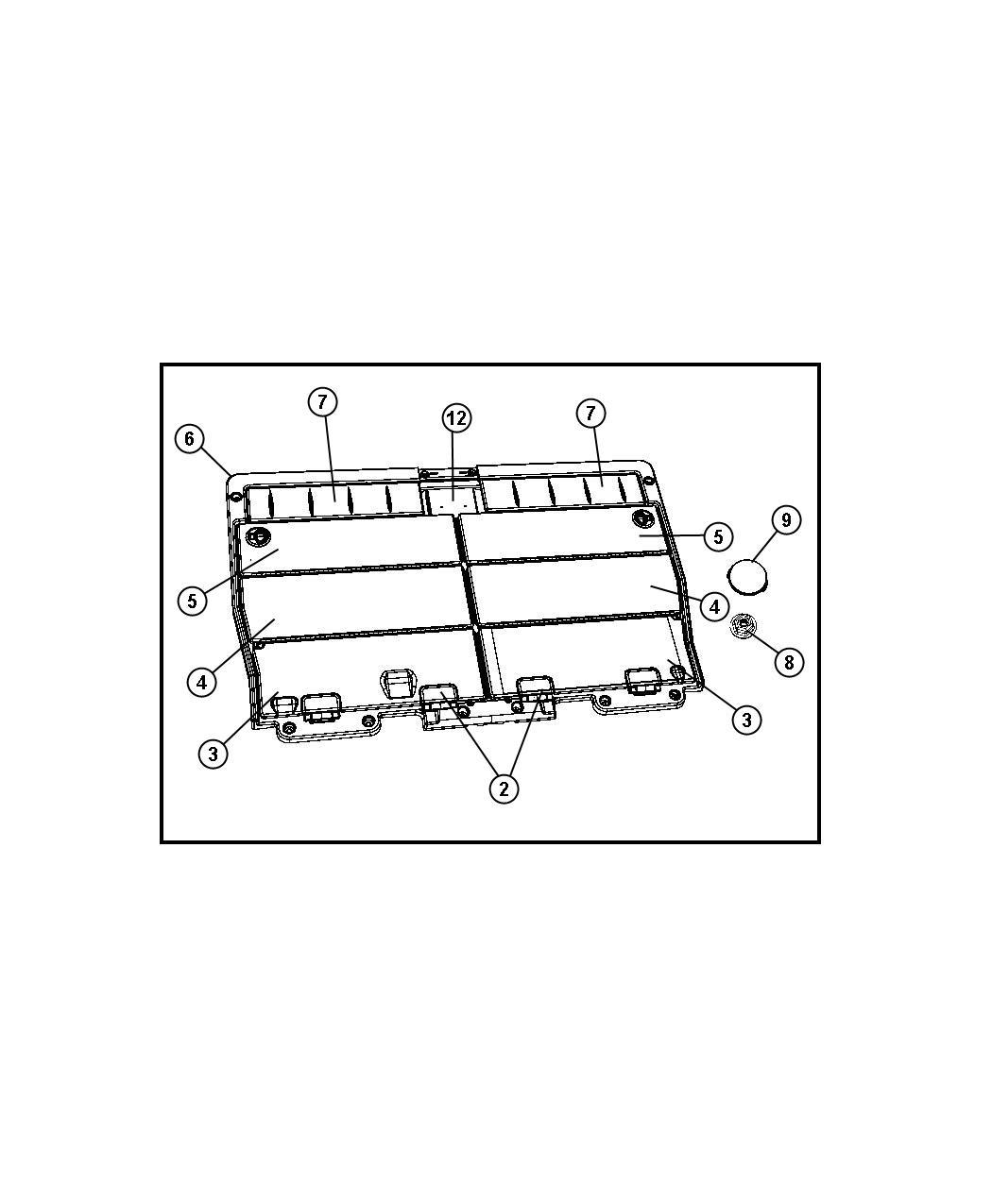 Chrysler Town & Country Door. Load floor. [vs], [vs