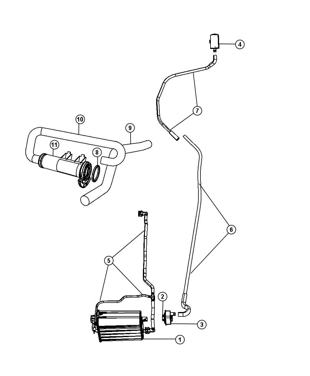 2007 Chrysler Aspen Canister. Vapor. Fuel, detection, pump