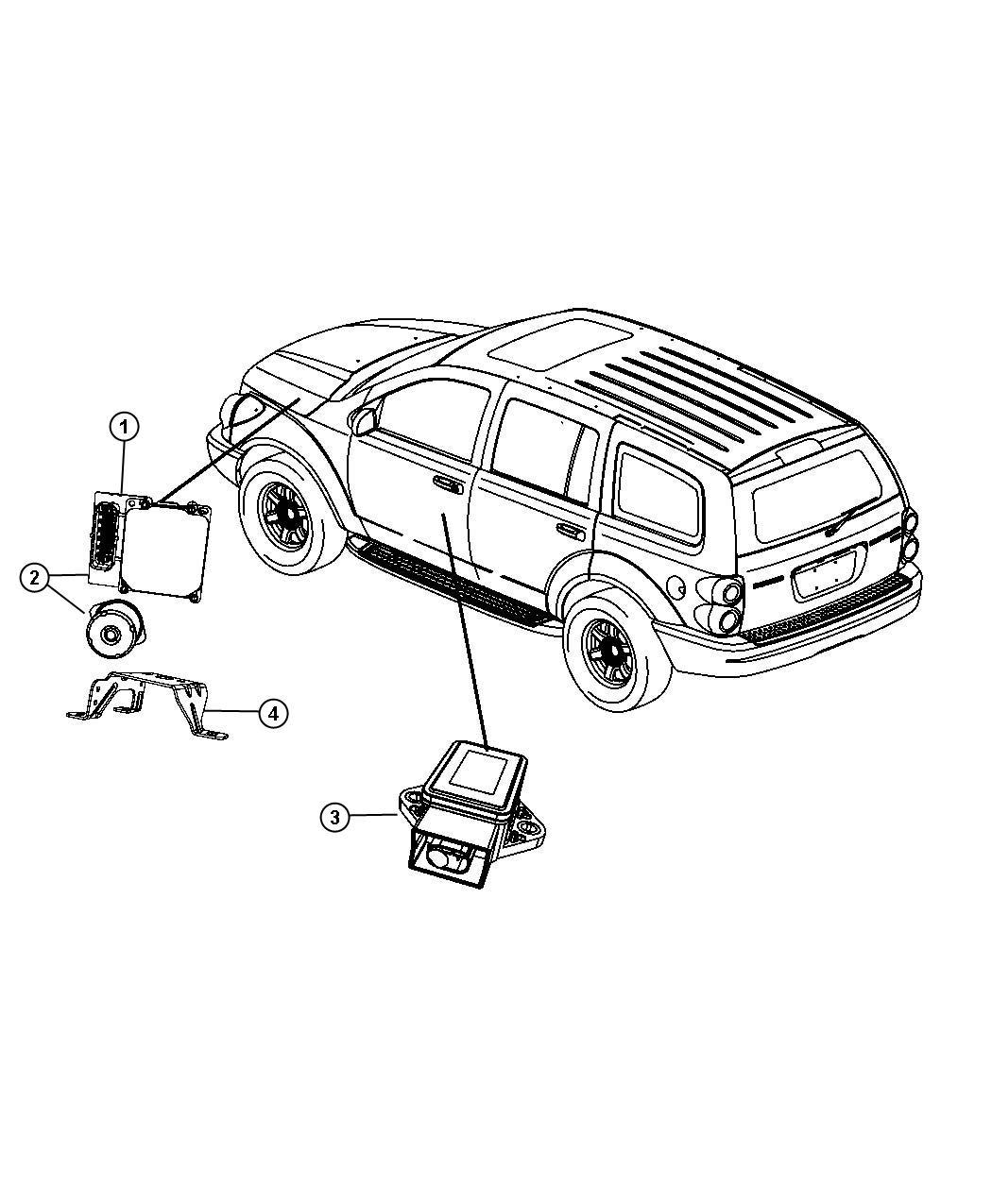 Chrysler Aspen Module Electronic Stability Anti Lock 4