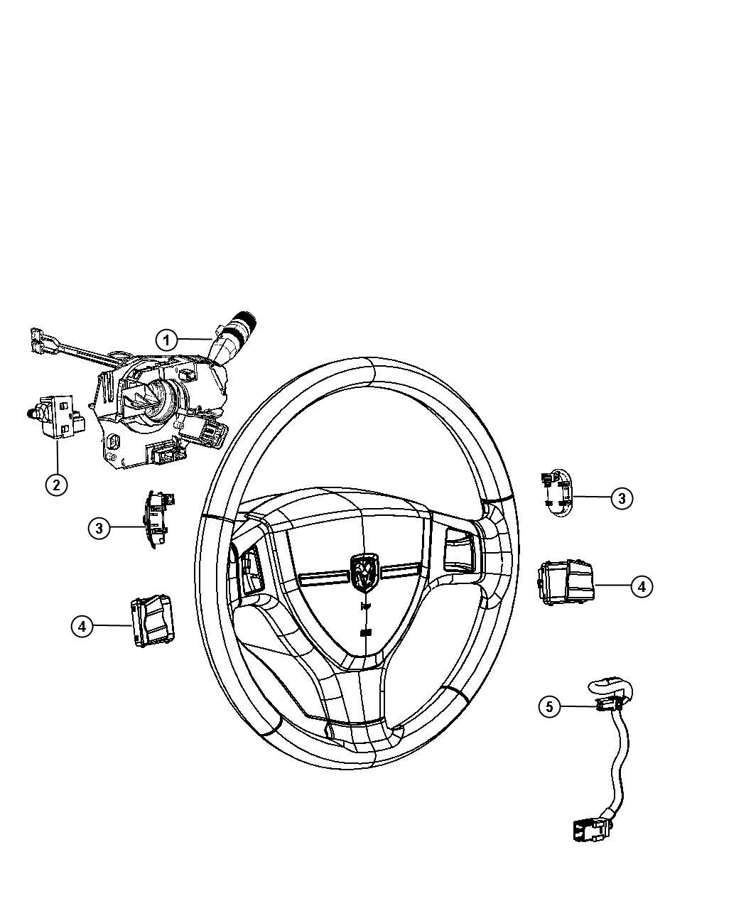 Chrysler Aspen Switch. Radio control, remote radio. Right