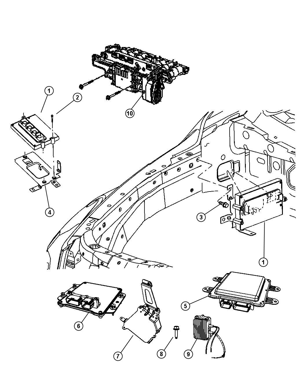 2009 Jeep Grand Cherokee Module. Powertrain control