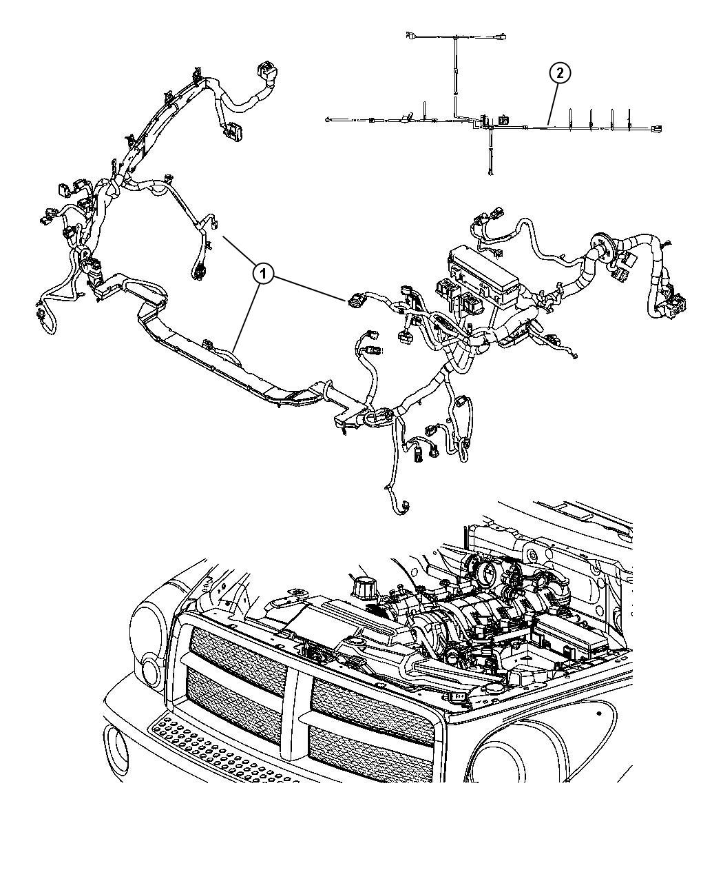 Dodge Durango Wiring Jumper Cooling Fan Pusher Fan