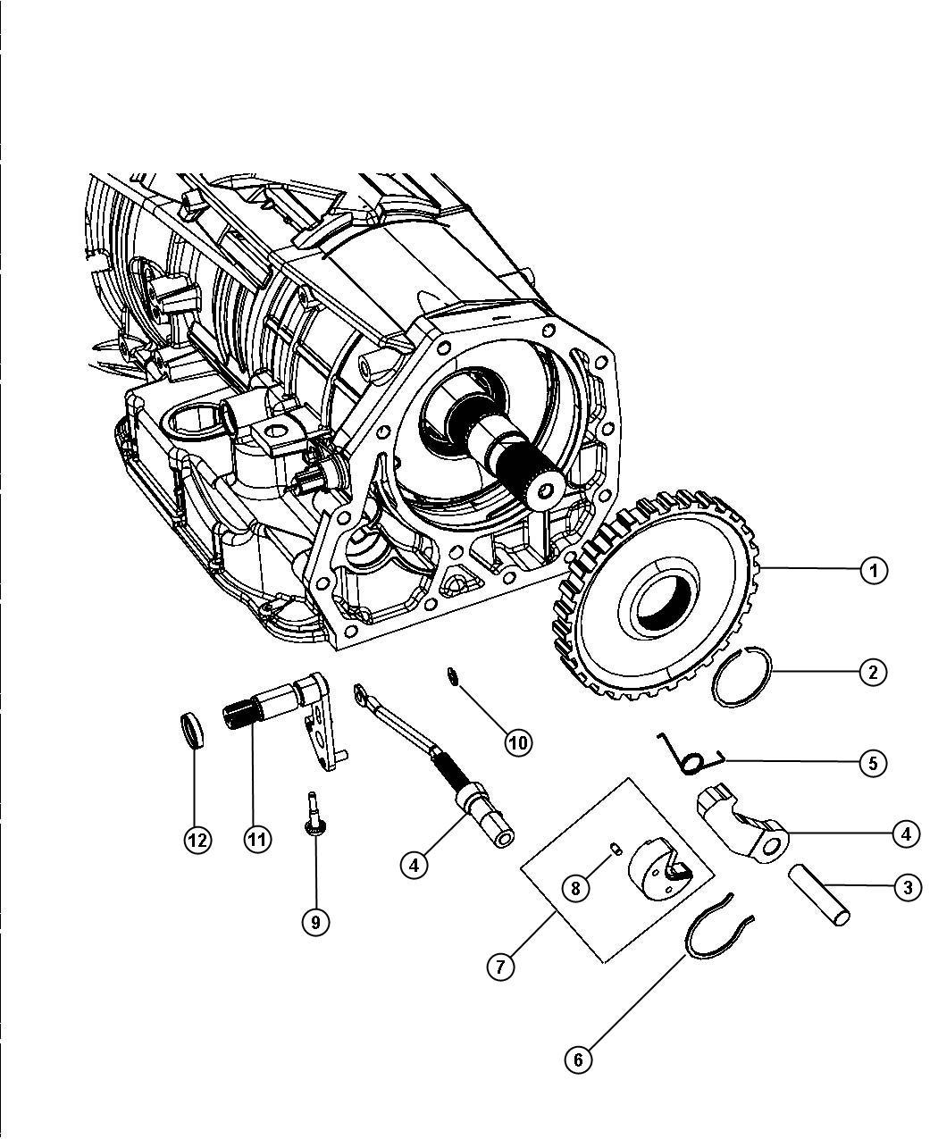 Chrysler Aspen Seal. Mounting. 52119098, 52119099, manual