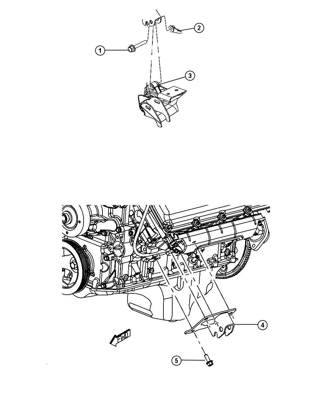 Dodge Durango Insulator Engine Mount Left Side Rwd