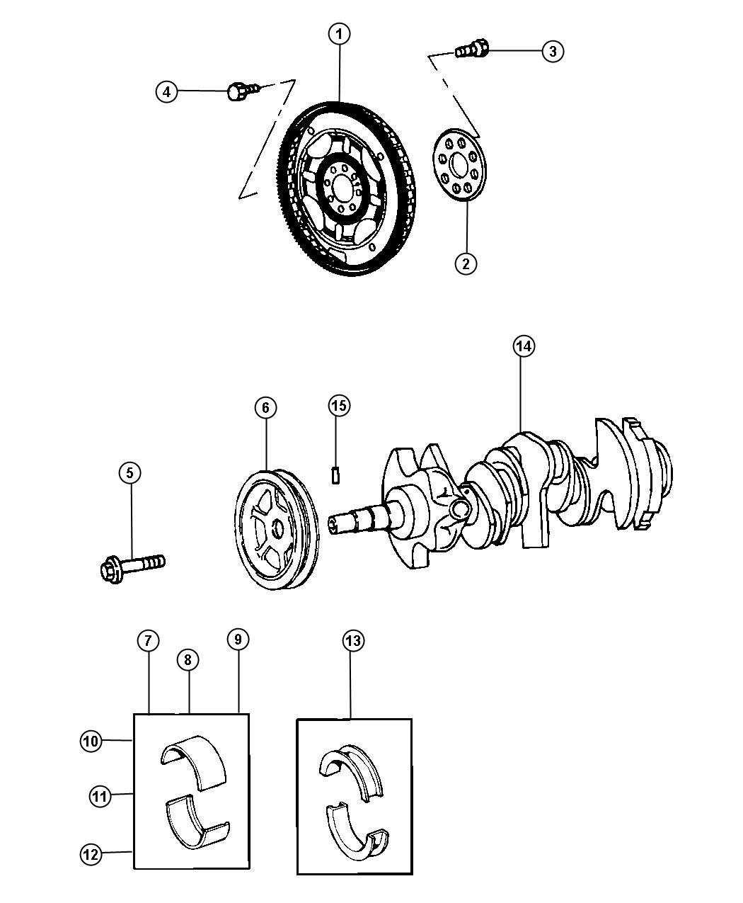 Dodge Grand Caravan Bearing Kit Crankshaft Standard