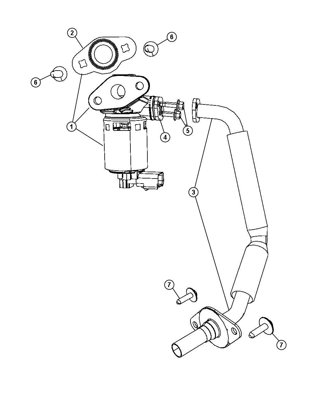 Dodge Grand Caravan Valve, valve assy. Egr, valve assy-egr