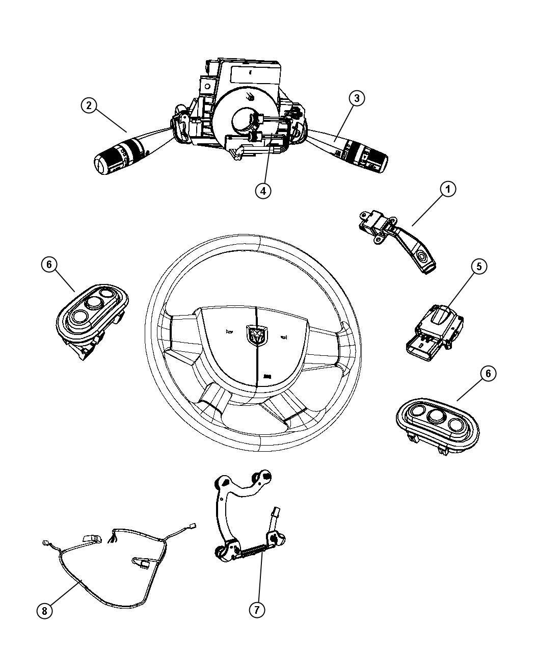 2008 Dodge Avenger Switch. Ignition. Instrument, panel
