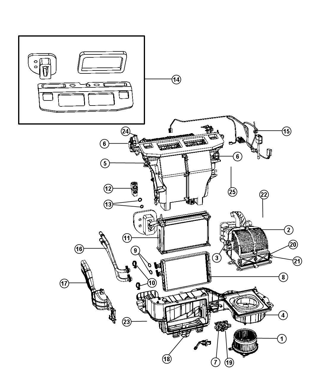 2009 Dodge Grand Caravan Resistor. Blower motor