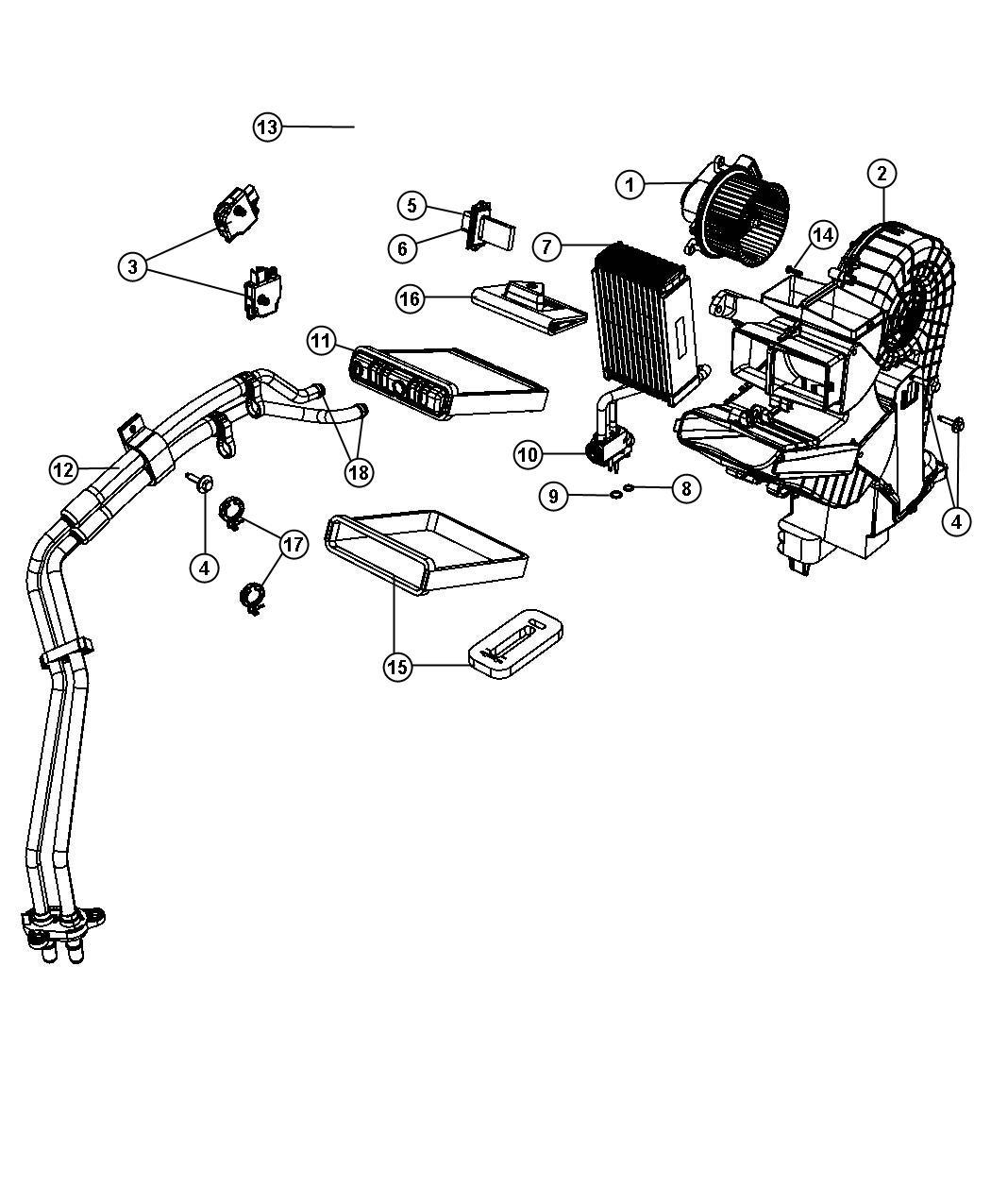 2009 Dodge Grand Caravan Plate. Evaporator. Zone, temp