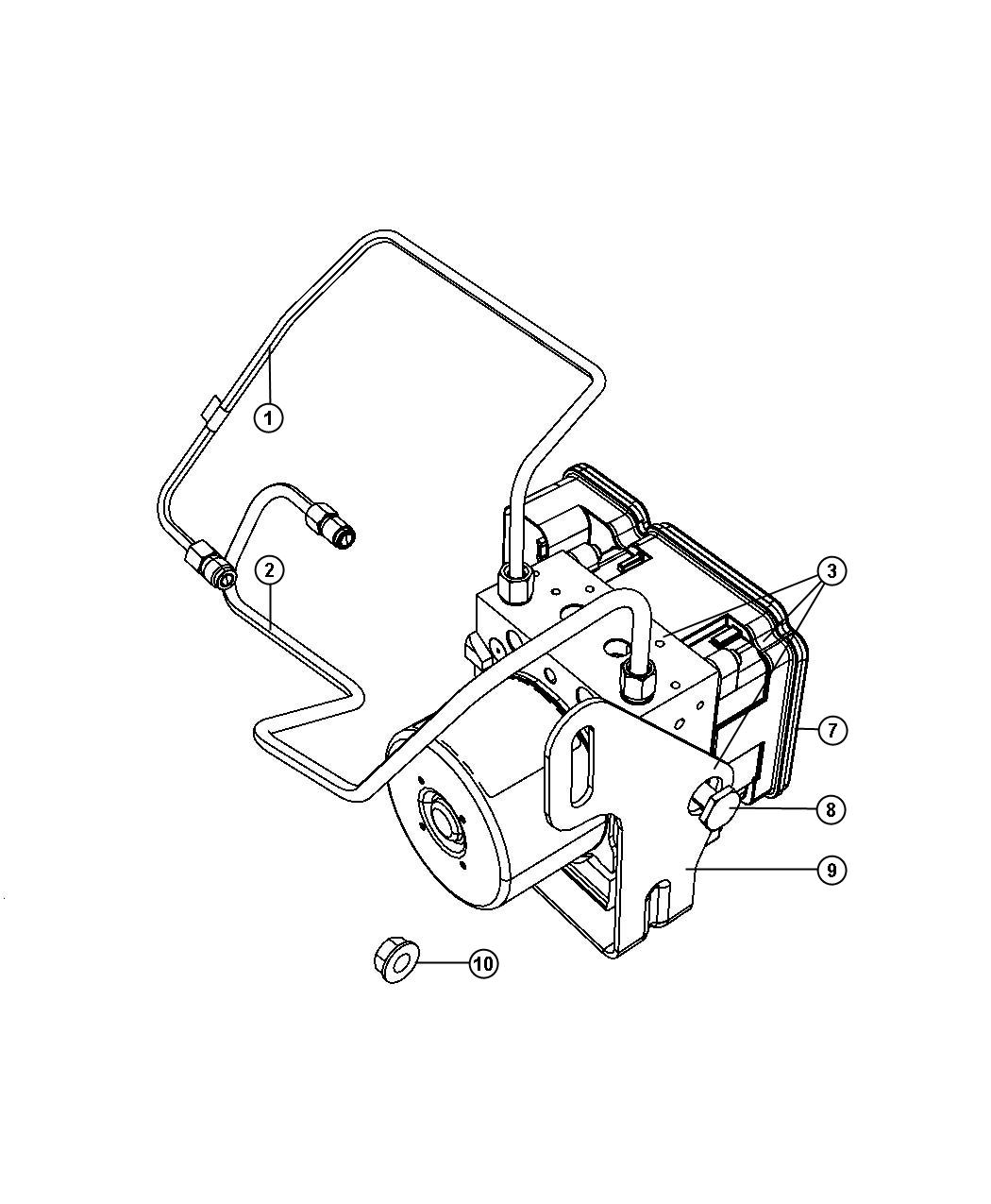Jeep Commander Module. Anti-lock brake system. Electronic