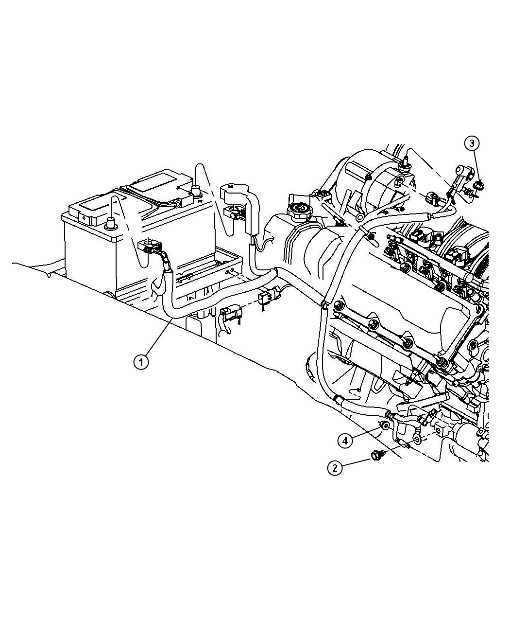 Jeep Commander Wiring Used For Alternator And Battery