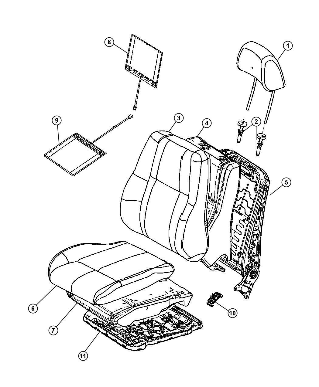 Jeep Commander Sleeve Headrest Locking Trim Lux