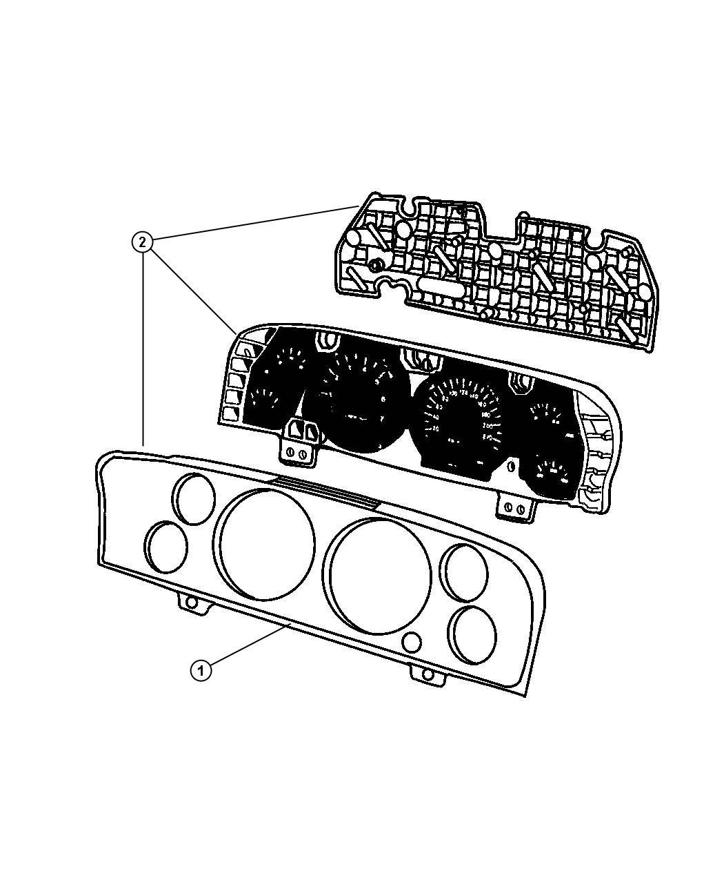 Jeep Grand Cherokee Cluster. Instrument panel. [240 kph