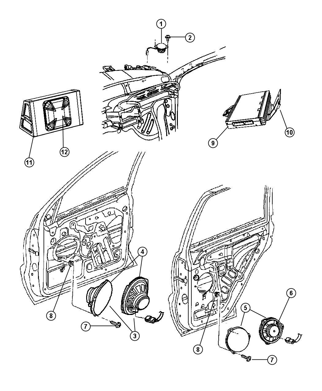Jeep Grand Cherokee Bracket. Amplifier. [276w boston