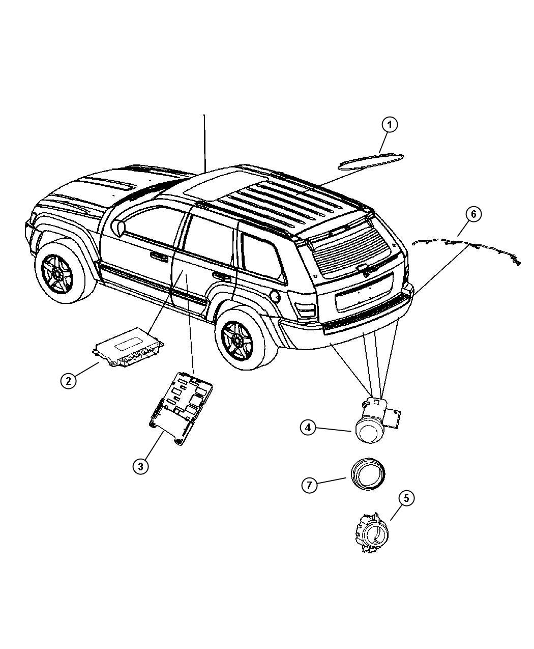 Chrysler 300 Harness Wiring Rear Fascia Sensor Wiring