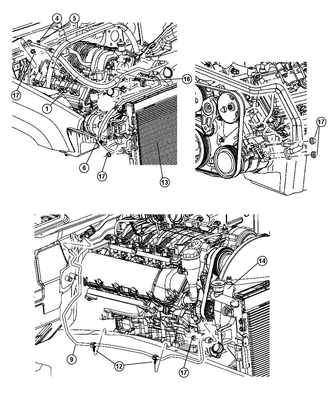 Jeep Grand Cherokee Line. A/c discharge. Without rear a/c