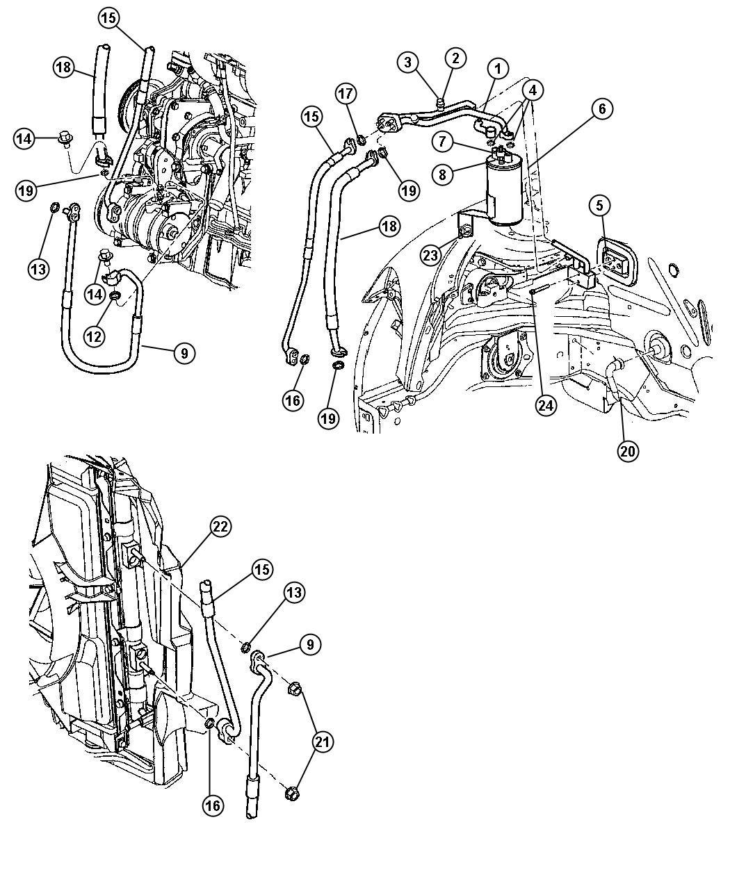 Dodge Nitro Gasket Valve To Evaporator Expansion