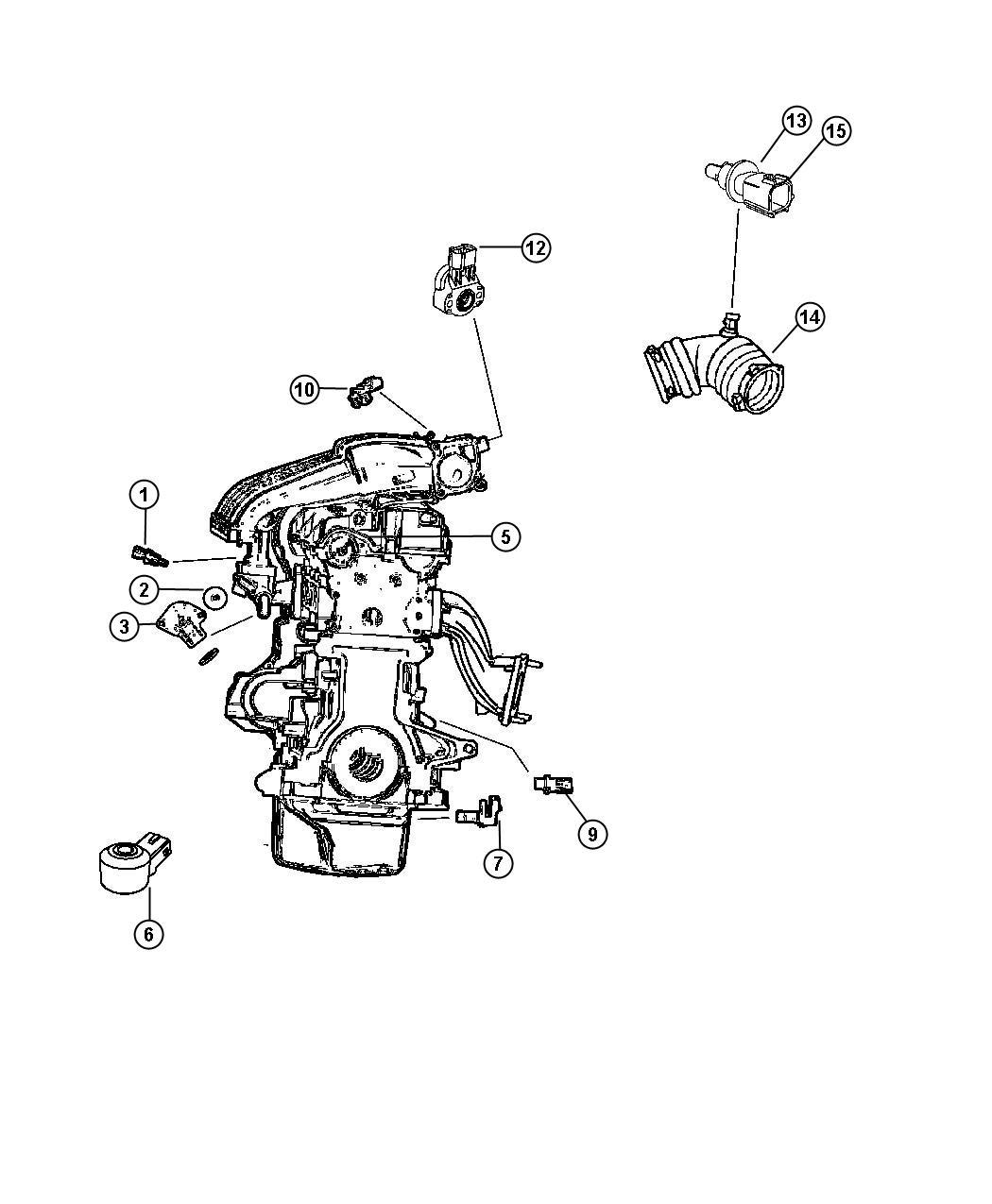 2003 Dodge Stratus Sensor. Crankshaft position. After 06