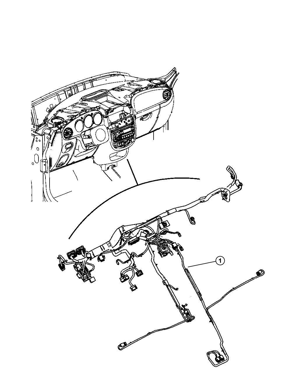 Chrysler Pt Cruiser Wiring Instrument Panel Spkrs Mast