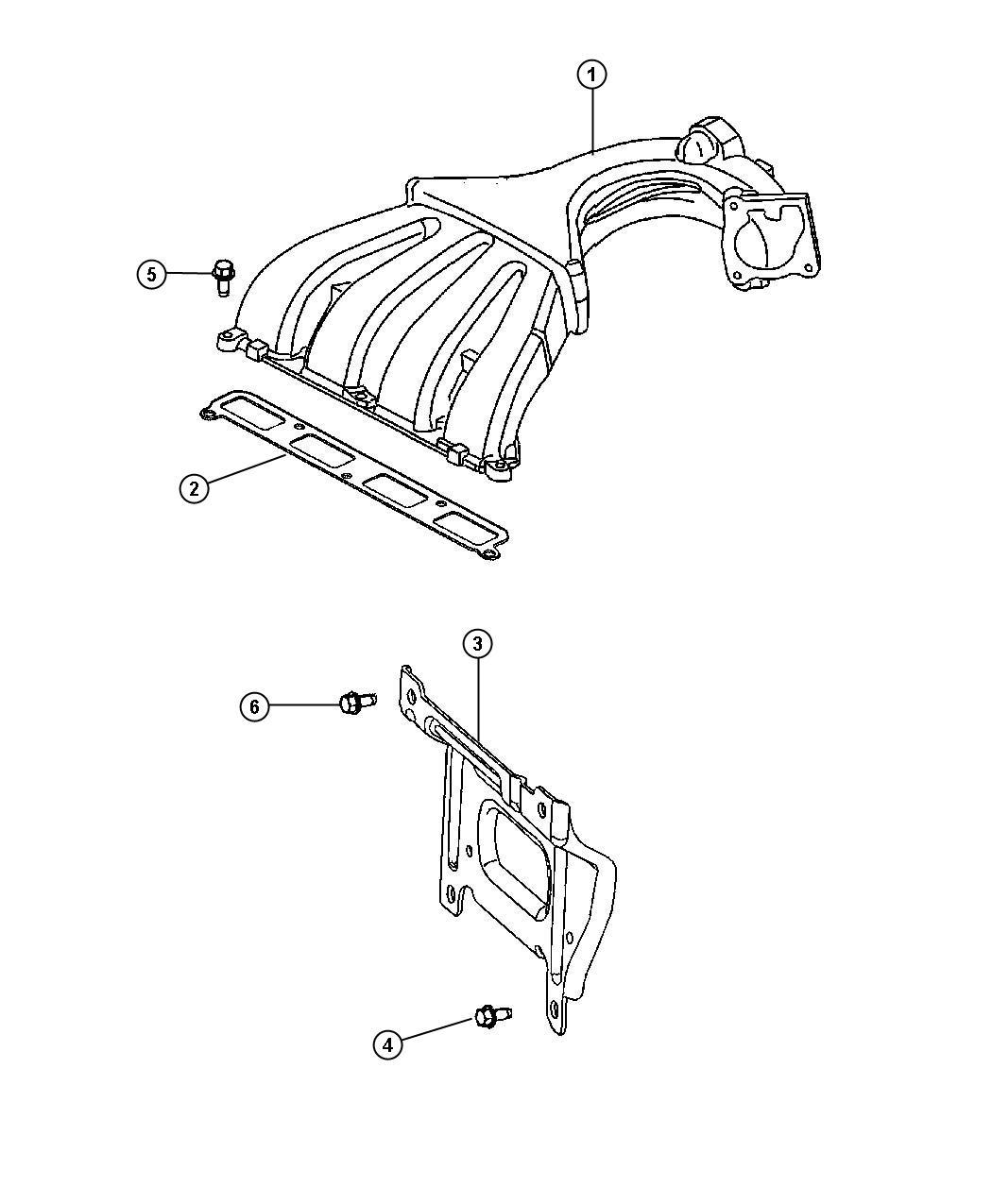 2009 Chrysler PT Cruiser Bracket. Intake manifold