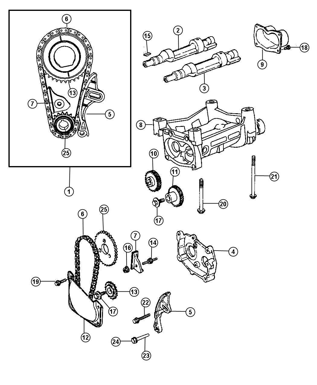 Chrysler Pt Cruiser Chain Balance Balance Shaft Edtedv