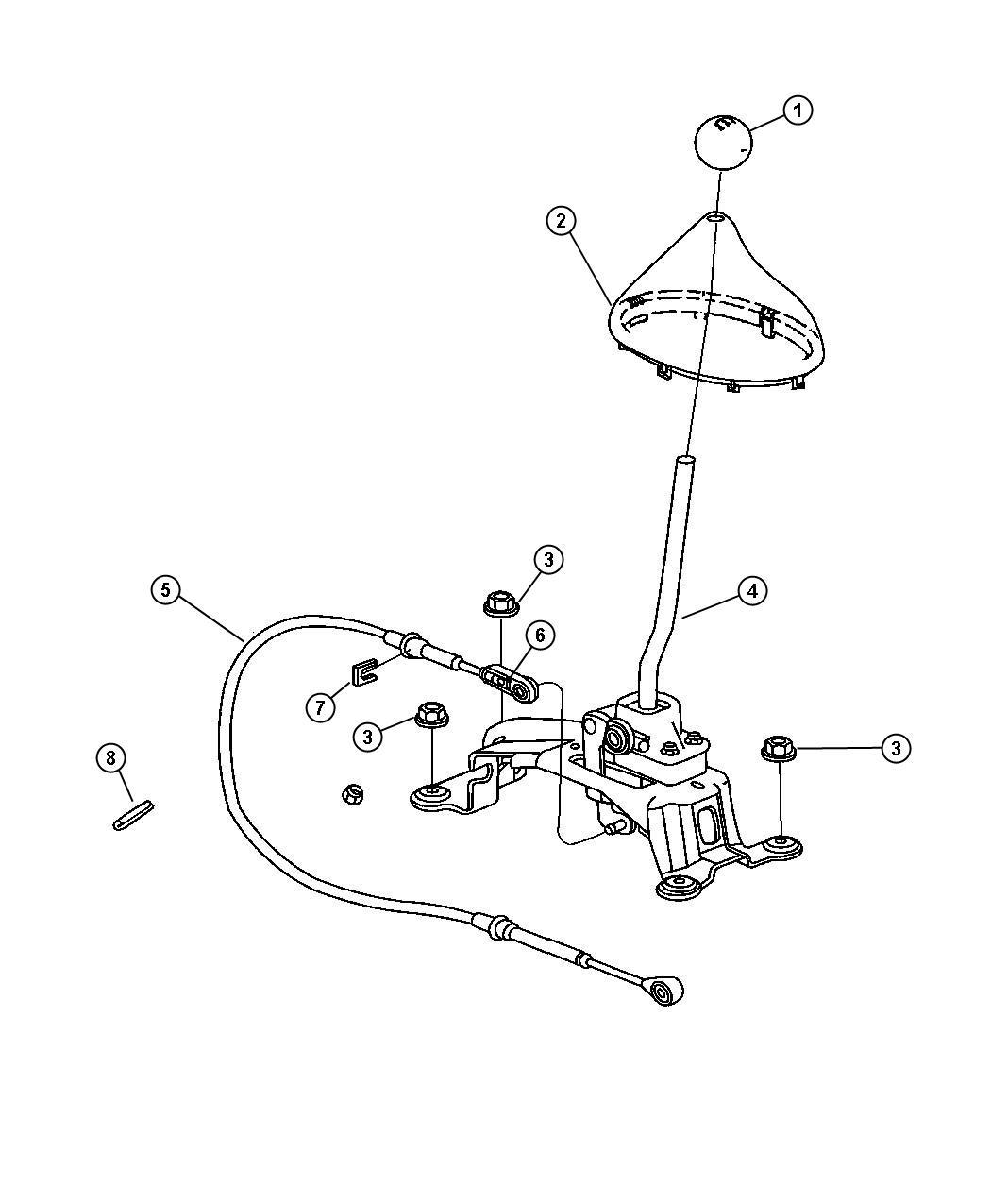 2002 Dodge Stratus Shifter. Transmission. Gear, system