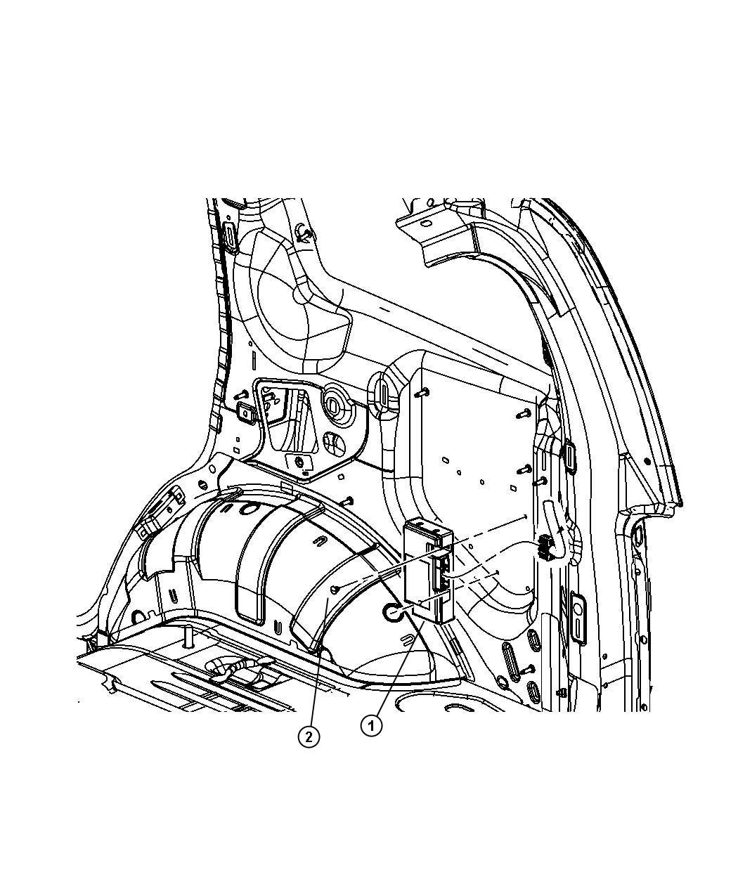 Chrysler PT Cruiser Module. Telematics. With attaching