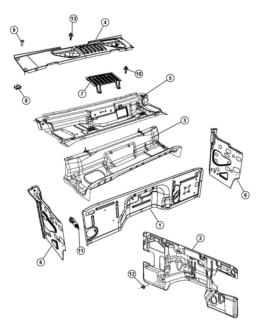 Jeep Wrangler Silencer Dash Panel Cowl