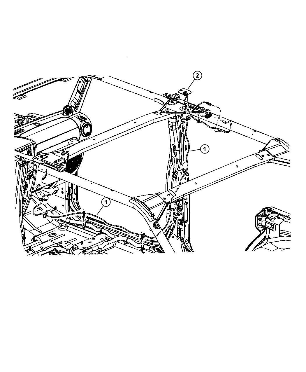 2009 Jeep Wrangler Antenna. Satellite. After 11/25/06, up