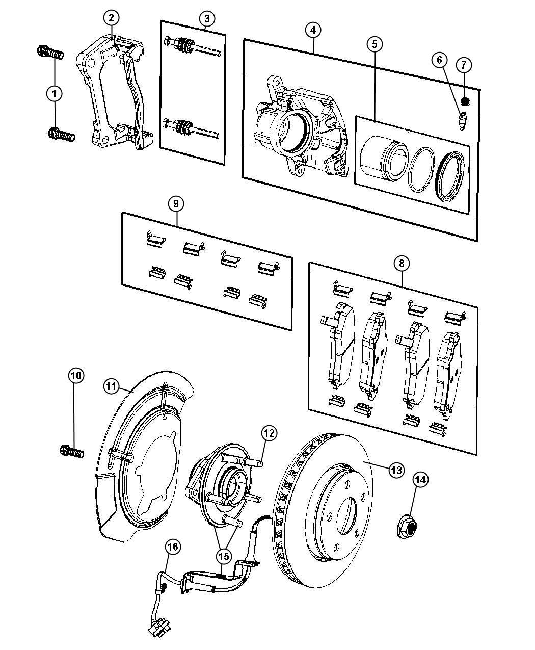 2008 Dodge NITRO Rotor. Brake. Front. [bry]. Brakes