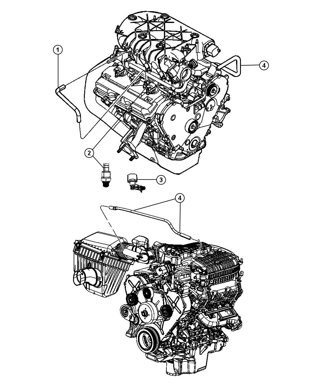 2009 Dodge NITRO Hose. Pcv. Ventilation, crankcase