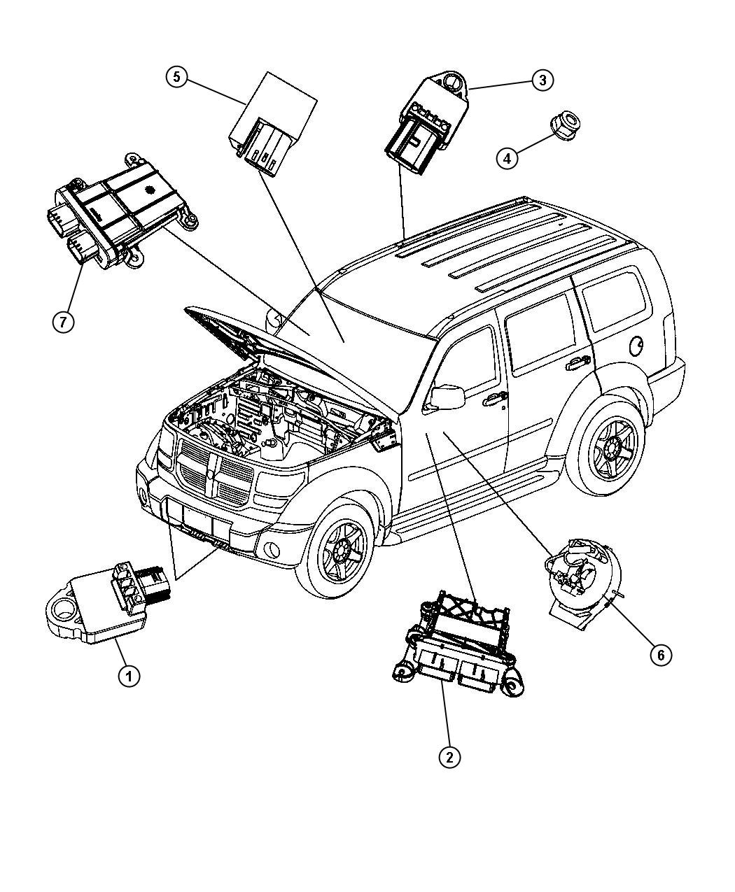 Jeep Liberty Module. Occupant restraint. Export. [egypt