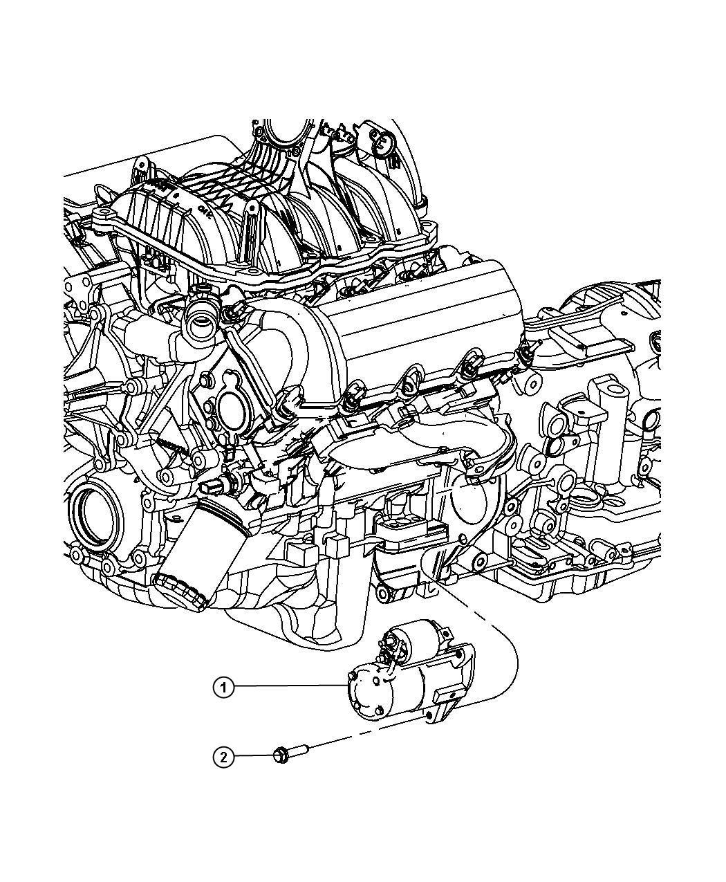 Dodge NITRO Starter. Engine. Remanufactured. Up to 10/22
