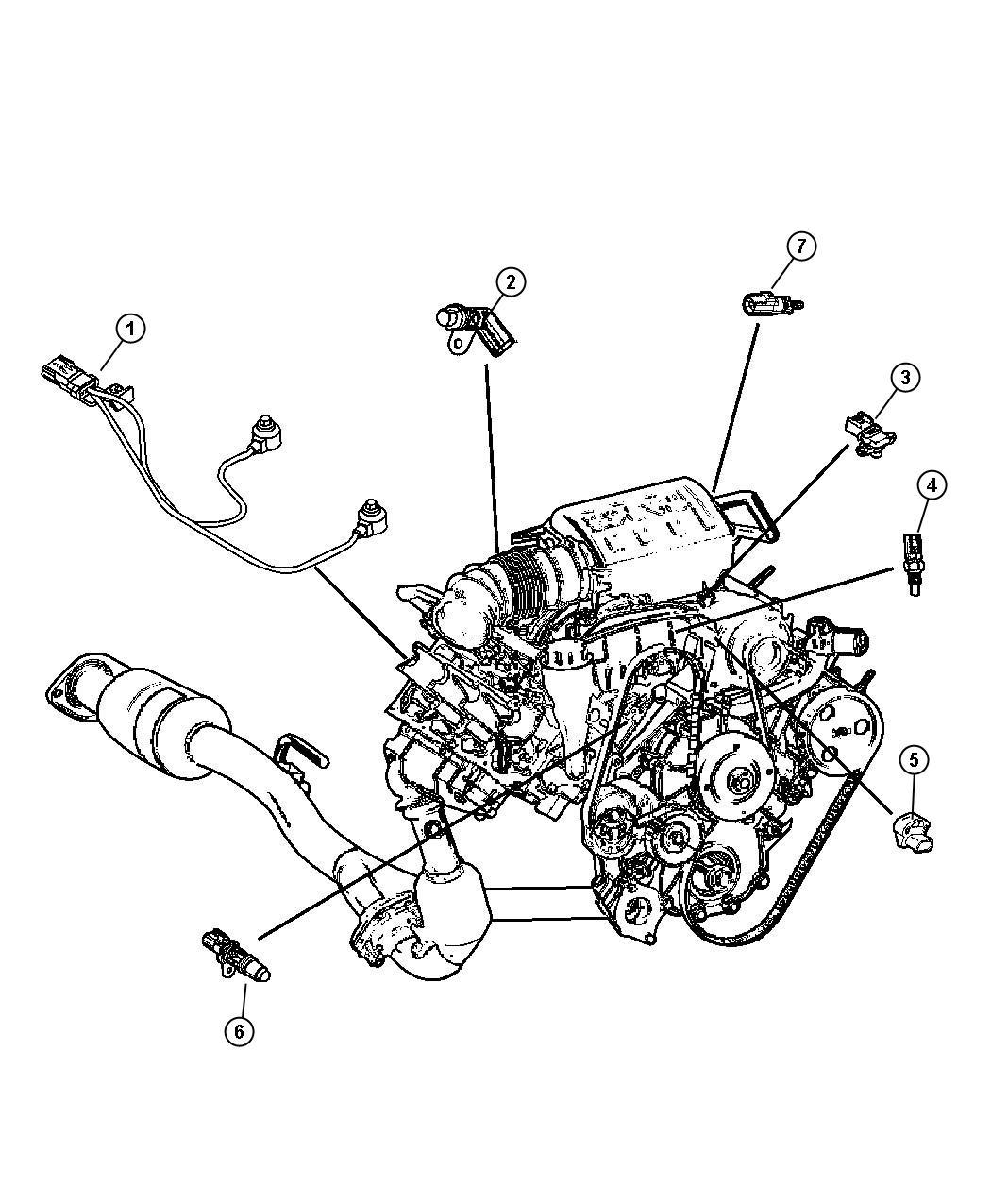 Dodge NITRO Sensor. Camshaft. Sensors, engine, gas
