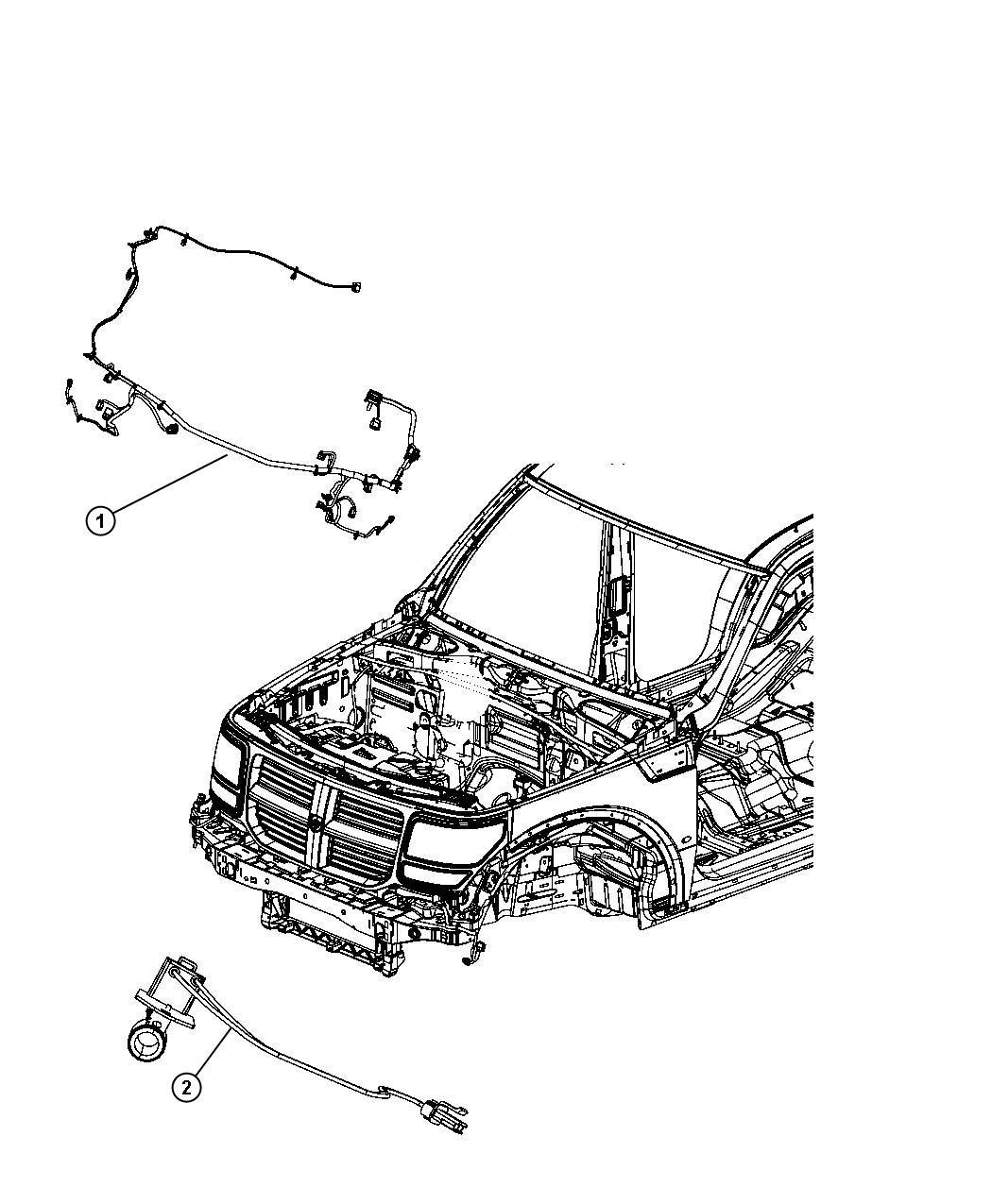 2008 Dodge NITRO Wiring. Front end lighting. Export