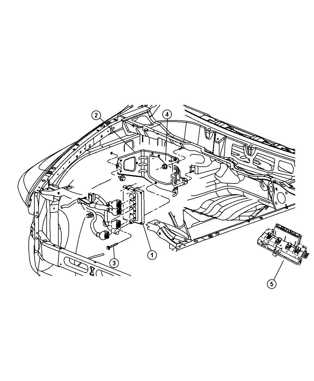 2011 Dodge Ram 1500 Bracket. Powertrain control module